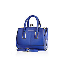 Blue mini frame handbag