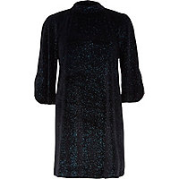 Black Chelsea Girl velvet shimmer dress
