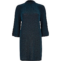 Blue Chelsea Girl shimmer dress
