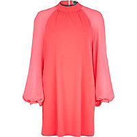 Pink Chelsea Girl chiffon sleeve dress