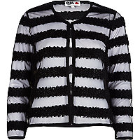 Black Chelsea Girl striped sheer jacket