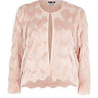 Light pink Chelsea Girl fringed jacket