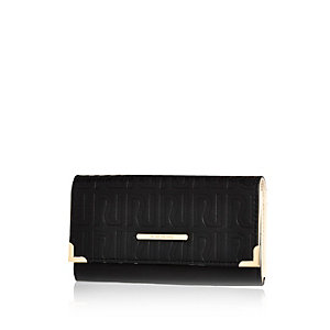 Black RI embossed purse
