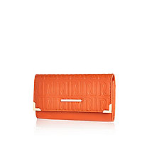 Orange RI embossed purse