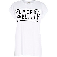White superbe fabuleux oversized t-shirt