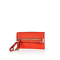 Red zip and tassel purse