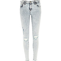 Acid wash ripped Amelie superskinny jeans