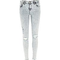 Acid wash ripped Amelie superskinny jeans
