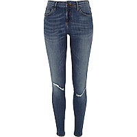 Mid wash Amelie superskinny reform jeans