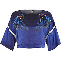 Blue Design Forum kingfisher crop t-shirt