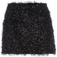 Black Chelsea Girl tinsel mini skirt