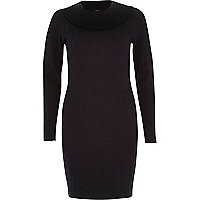 Navy turtle neck jumper dress