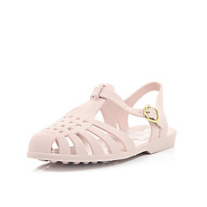 Light pink jelly shoes