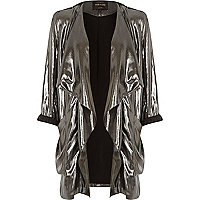 Black metallic waterfall jacket
