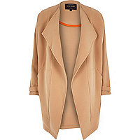 Camel relaxed waterfall coat