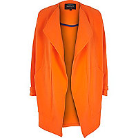 Orange relaxed waterfall coat
