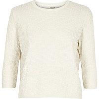 Cream mixed pattern jumper