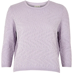 Light purple mixed pattern jumper