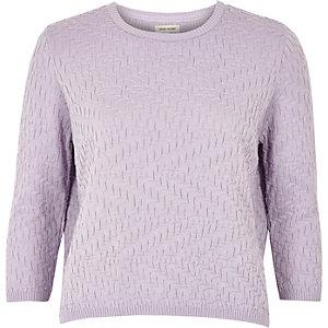 Light purple mixed pattern jumper
