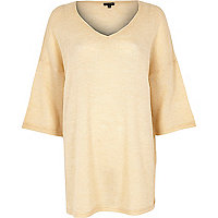Cream mohair-look tunic