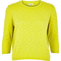 Lime mixed pattern jumper