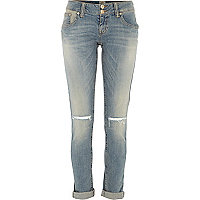 Light wash ripped knee Matilda skinny jeans