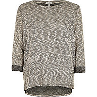 Grey metallic stepped mem top