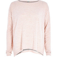Pink knitted swing top