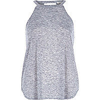 Grey marl neppy sleeveless top