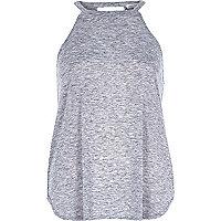 Grey marl neppy sleeveless top