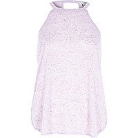 Purple neppy sleeveless top