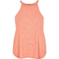 Coral neppy sleeveless top