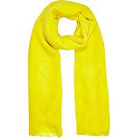 Yellow ladder stitch scarf