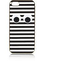 White stripe googley eye iPhone 5 case