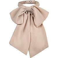 Beige neck bow