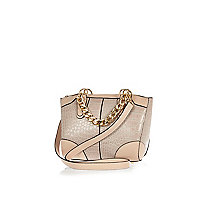 Pink chain handle mini bower bag