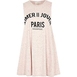 Pink Paris print swing tank top