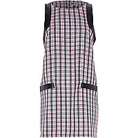 Pink Chelsea Girl check print shift dress