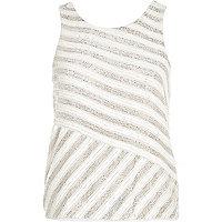 White embellished vest top