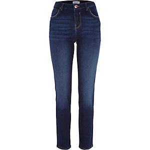 Rich mid blue wash Jenna straight jeans