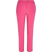 Bright pink cigarette pants