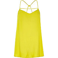 Yellow strappy longline cami