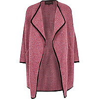 Pink relaxed waterfall coat