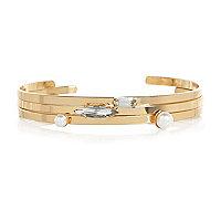 Gold tone embellished bracelet