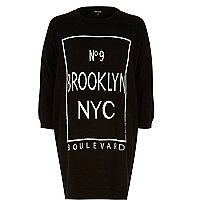 Black Brooklyn NYC jumper dress