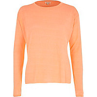Orange oversized jumper