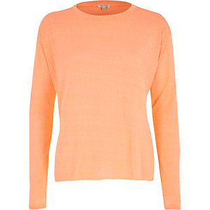 Orange oversized jumper