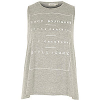 Grey shop boutiques print tank top