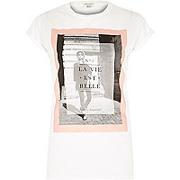White la vie est belle fitted t-shirt