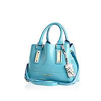 Blue mini tote bag